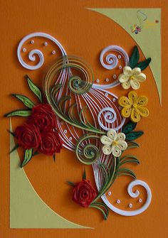neli: Quilling cards - flowers