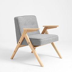 Fotel VINC - srebrny(no11), naturalny