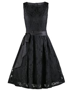 OUGES Women's Round Neck Sleeveless Flare Elegant Lace Party Dress at Amazon Women's Clothing store:  https://www.amazon.com/gp/product/B01N1MHNK3/ref=as_li_qf_sp_asin_il_tl?ie=UTF8&tag=rockaclothsto-20&camp=1789&creative=9325&linkCode=as2&creativeASIN=B01N1MHNK3&linkId=4f873138481b1f981994192dfd928daa