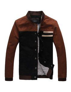 36290976ba Trendy Stand Collar Jacket with Denim Panel For Men- Jackets & Coats  Code: