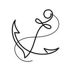 Simple anchor tattoo                                                       …