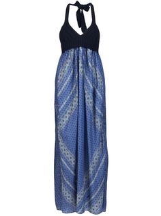 SACAI LUCK Scarf Print Dress