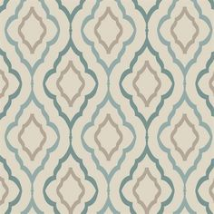 ND7086 - Inspired Elegance Wallpaper Book - Diva Blue and Brown Harlequin - One of Candice Olson's most popular patterns.