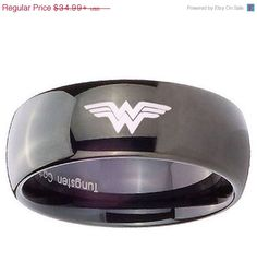 Special Sale Tungsten Carbide Wonder Woman by customjewelry14