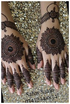 Henna Hand Designs, Dulhan Mehndi Designs, Mehandi Designs, Circle Mehndi Designs, Mehndi Designs Finger, Round Mehndi Design, Latest Bridal Mehndi Designs, Mehndi Designs 2018, Mehndi Designs Book