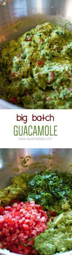 Big Batch Guacamole....tried it, LOVED IT! Taco Party, Fiesta Party Foods, Mexican Fiesta Party, Fiesta Dip, Lauren's Latest, Catering Display, Catering Food, Wedding Catering, Taco Bar Wedding