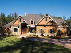 Plan W15696GE: Luxury, Craftsman, Premium Collection, Vacation, Mountain, Photo Gallery, Sloping Lot, Corner Lot House Plans & Home Designs