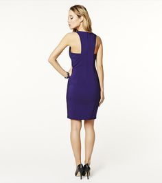 Look drop dead gorgeous with this purple bodycon pencil dress & one of our statement necklaces.