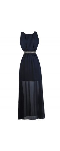 Lily Boutique Demure and Dazzling Embellished Navy Maxi Dress, $50 Navy Beaded Maxi Dress, Navy Maxi Bridesmaid Dress, Navy Formal Dress, Navy Prom Dress www.lilyboutique.com