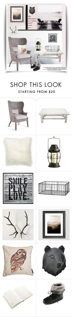 """""""The Mountains are Calling and I Must Go......."""" by dianefantasy on Polyvore featuring interior, interiors, interior design, дом, home decor, interior decorating, NOVICA, Williams-Sonoma, Universal Lighting and Decor и DAY Birger et Mikkelsen"""
