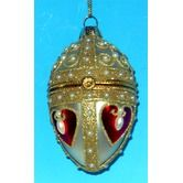 SKU #: HBE1152   Part #: 99321  Horizons East Heart Faberge Style Opening Egg Ornament - 99321 $14.00