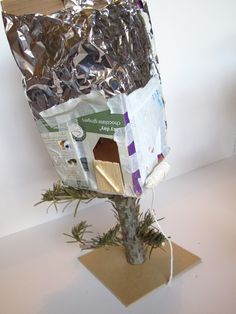 Tree house model made by kids during Architecture, Line & Tone workshop Mar'13