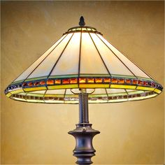J Devlin Table Lamp 644, Tiffany Styled Stained Glass Table Lamps