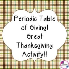 Periodic table christmas activity winter words brain breaks and clever unique activity for thanksgiving and becoming more familiar with the periodic table students urtaz Images