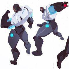 Phil Bourassa -  Cyborg color sketch from 2011  https://instagram.com/p/zvYSvHQxW9/?modal=true