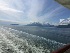 Cruising to Alaska, scene from the stern