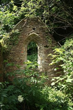 Church of St. Mary the Virgin ruins, Chapel Hill, Monmouthshire, Wales