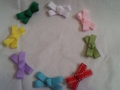 Small Hair Bow Non Slip Hair Clips Set of 4 by JenvyAccessories, #HairClips #Baby #AhaTeam