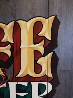 Hand painted lettering by John King, Los Angeles