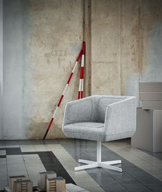 Dressed Swivel Armchair by Luca Nichetto for Tacchini. Available at Stylecraft.