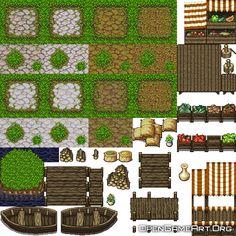 Rpg Maker Vx, 8 Bit Art, Pixel Art Games, Stone Path, Game Concept Art, Character Sheet, Game Design, Art Tutorials, Game Art