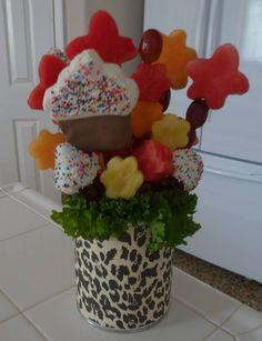Pineapple cupcake! Fruit arrangement