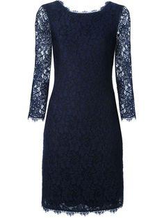 Diane Von Furstenberg Vestido azul marinho