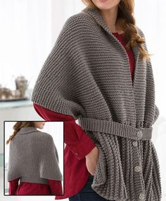 Free Knitting Pattern for Easy Sweater Scarf