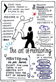 "When Chip R. Bell and Marshall Goldsmith released the revised edition of their classic book ""Managers as Mentors: Building Partnerships for Learning"" in 2013, I interviewed them on this blog. Now that I am learning how to create sketch note, I used this interview on mentoring as a base to create"