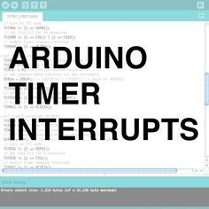 Timer interrupts allow you to perform a task at very specifically timed intervals regardless of what else is going on in your code. In this instructable I'll explain how to ...