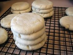 paradise bakery sugar cookies -- our absolute favorite drop sugar cookie recipe!  we also like putting our favorite buttercream on top... thick, melt-in-your-mouth, fabulous cookie!