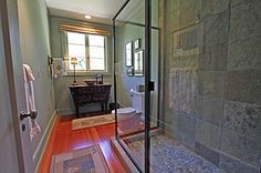 Love the shower tile and floor