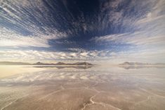 This ain't no desert mirage... cloud reflections at the Bonneville Salt Flats in western Utah. 1800x1201 #nature #photography #travel