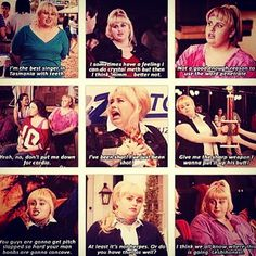 Fat Amy (Rebel Wilson) in Pitch Perfect. Give me the sharp weapon, I want to stick it up his butt.