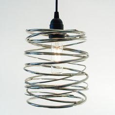 Spiral Nest Pendant Nickel, $340, now featured on Fab.