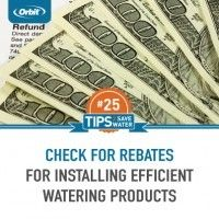 Check for rebates for installing efficient watering products