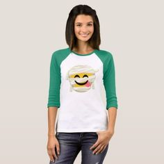 Funny Mummy Bleh Emoji Halloween T-Shirt  $33.90  by LittleSunshine14  - cyo diy customize personalize unique