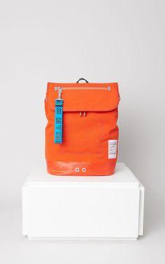 Kanvas Backpack, DEEP ORANGE, KENZO
