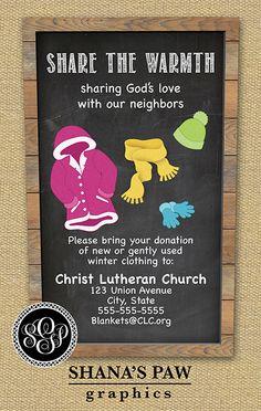 Use this colorful ShanasPaw.com Winter Clothing Drive ...