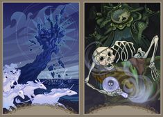 The Last Unicorn Tarot Deck — Adrianne Tamar Arachne Fantasy Films, Fantasy Art, Rider Waite Tarot Cards, Beloved Film, Unicorn And Glitter, The Last Unicorn, Tarot Decks, Fantasy Creatures, Anime
