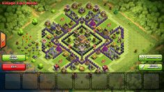 clash of clans war base th8 - Google Search