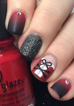 christmas-nail - 45 Joyful Christmas Nails Ideas <3 <3