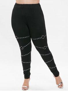 8a39f511b90e4b Shop Black Skinny Sheer Mesh Bandage Leggings online. SheIn offers ...