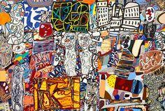 Serigraph: Theatre de Memoire, 1977 by Jean Dubuffet : Augustin Lesage, Beaux Arts Paris, Jean Dubuffet, Art Gallery, Art Brut, Outsider Art, Cool Posters, Zurich, Art Plastique