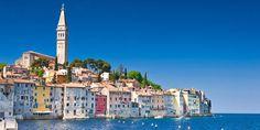 Blick auf die Altstadt von Rovinj an der kroatischen Küste