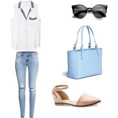 GG Tiffany by hotsoostuff on Polyvore featuring polyvore fashion style Equipment H&M J Shoes Tory Burch