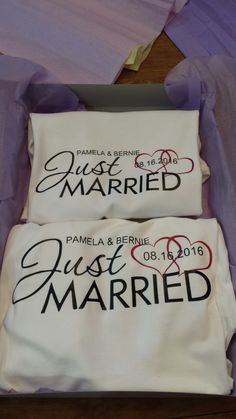 Just married matching his/her shirts