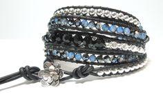 Blue Jean Baby Wrap bracelet