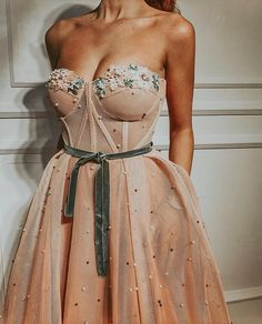 gorgeous gowns Details - Baby pink color - Tulle Fabric - Handmade embroidered crystals and flowers - Ball-gown style - Party dress Evening dress Weeding dress Pink Party Dresses, Prom Dresses, Formal Dresses, Dress Party, 1950s Dresses, Pink Gowns, Elegant Dresses, Bridesmaid Dress, Vintage Dresses