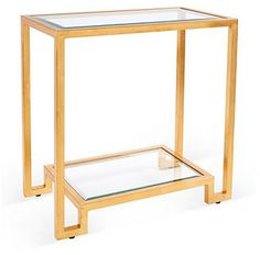 Domino Side Table, Gold on shopstyle.com